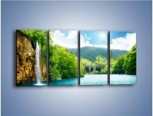 Obraz na płótnie – Cały urok górskich wodospadów – czteroczęściowy KN769W1