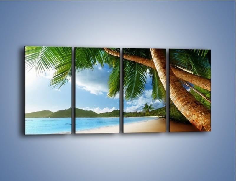 Obraz na płótnie – Idealne miejsce na ziemi – czteroczęściowy KN847W1