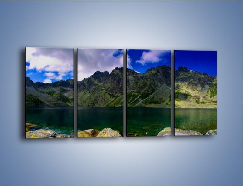 Obraz na płótnie – Horyzont górskich szczytów – czteroczęściowy KN856W1