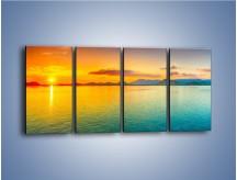 Obraz na płótnie – Tylko woda i słońce – czteroczęściowy KN871W1