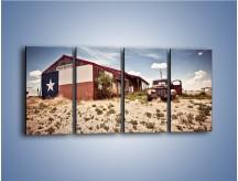 Obraz na płótnie – Autem przez texas – czteroczęściowy KN874W1