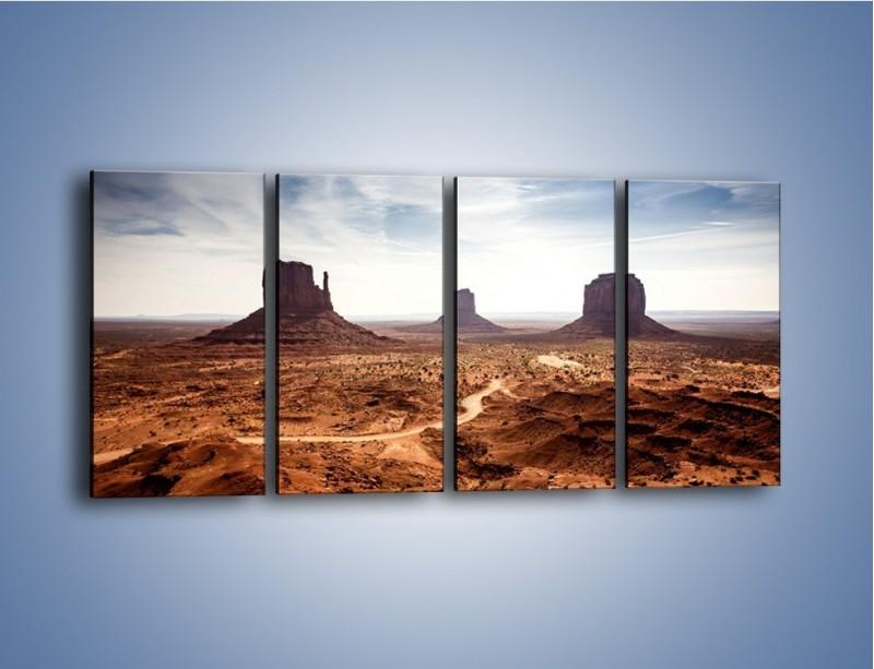 Obraz na płótnie – Spragniona ziemia skąpana w słońcu – czteroczęściowy KN943W1