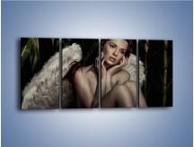 Obraz na płótnie – Anioł i jego tęsknota – czteroczęściowy L011W1