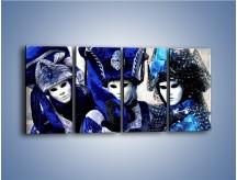 Obraz na płótnie – Weneckie maski i księżniczki – czteroczęściowy L012W1