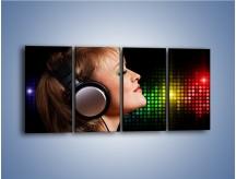 Obraz na płótnie – Wsłuchaj się w muzykę – czteroczęściowy L015W1