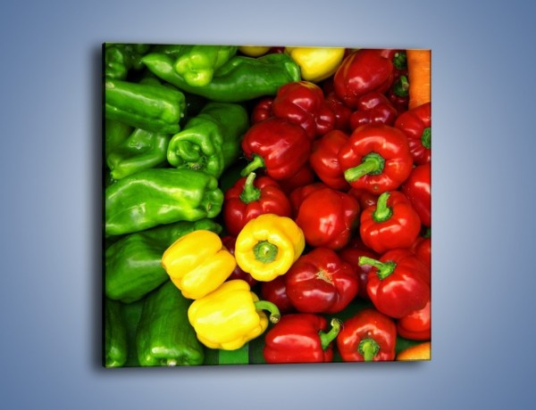 Obraz na płótnie – Warzywne kolorowe kombinacje – jednoczęściowy kwadratowy JN192