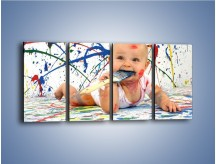 Obraz na płótnie – Chodź pomaluj mój świat – czteroczęściowy L059W1