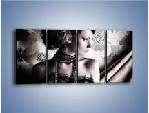 Obraz na płótnie – Czarny kobiecy charakter – czteroczęściowy L095W1