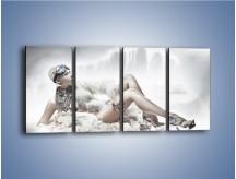 Obraz na płótnie – Biel i jego bogactwo – czteroczęściowy L100W1