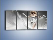 Obraz na płótnie – Niewinność bieli – czteroczęściowy L104W1