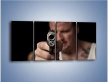 Obraz na płótnie – Męski świat pełen przemocy – czteroczęściowy L106W1