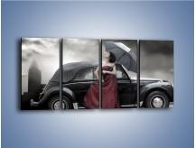 Obraz na płótnie – Dama pod parasolem – czteroczęściowy L139W1