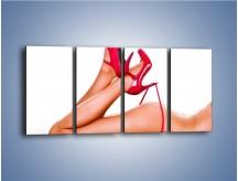 Obraz na płótnie – Bardzo kobiece dodatki – czteroczęściowy L162W1