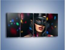 Obraz na płótnie – Bal w czarnych maskach – czteroczęściowy L177W1