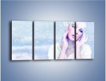 Obraz na płótnie – Delikatna królowa śniegu – czteroczęściowy L224W1