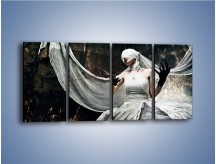 Obraz na płótnie – Dama w białych bandażach – czteroczęściowy L278W1