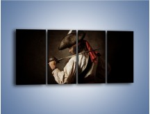 Obraz na płótnie – Ostra szabla i mężczyzna – czteroczęściowy L353W1