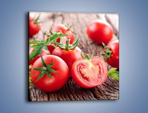Obraz na płótnie – Pomidorowa uczta – jednoczęściowy kwadratowy JN201