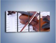 Obraz na płótnie – Melodia grana na skrzypcach – czteroczęściowy O003W1