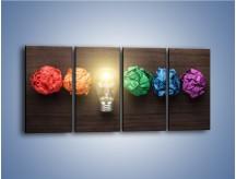 Obraz na płótnie – Ekologia w kolorze – czteroczęściowy O017W1