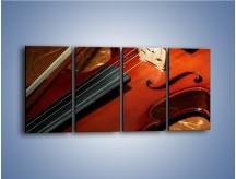 Obraz na płótnie – Instrument i muzyka poważna – czteroczęściowy O025W1