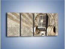 Obraz na płótnie – Głos w srebrnym mikrofonie – czteroczęściowy O026W1