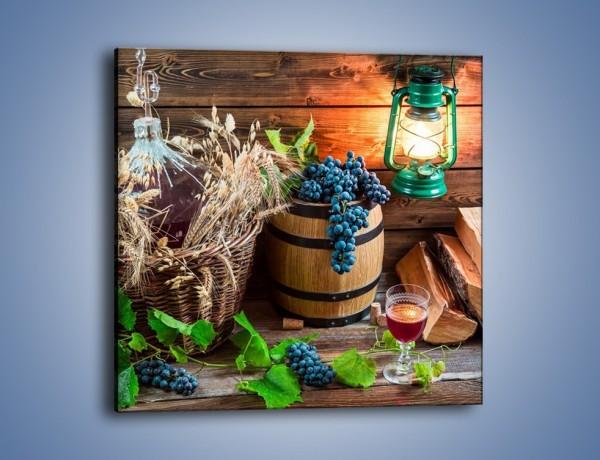 Obraz na płótnie – Wino według własnego przepisu – jednoczęściowy kwadratowy JN202