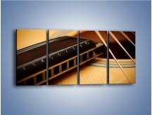 Obraz na płótnie – Instrumenty z drewna – czteroczęściowy O108W1