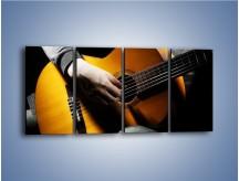 Obraz na płótnie – Chłopiec z gitarą – czteroczęściowy O109W1