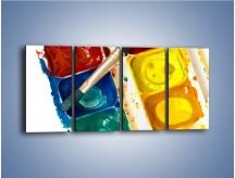 Obraz na płótnie – Kolorowy świat malowany farbami – czteroczęściowy O116W1
