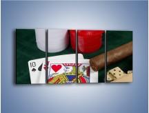 Obraz na płótnie – Męski świat hazardu – czteroczęściowy O121W1