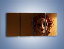 Obraz na płótnie – Maska ze znaczącymi szczegółami – czteroczęściowy O161W1