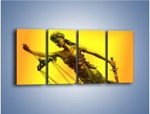 Obraz na płótnie – Figurka ważna w świecie prawa – czteroczęściowy O164W1