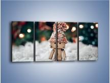 Obraz na płótnie – Mały ludek zimową porą – czteroczęściowy O166W1
