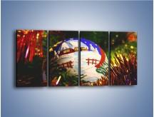 Obraz na płótnie – Bombka ręcznie malowana – czteroczęściowy O168W1