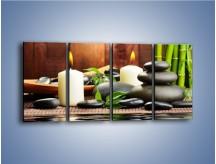 Obraz na płótnie – Masaż przy świecach – czteroczęściowy O176W1
