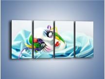 Obraz na płótnie – Kolorowa maska na błękicie – czteroczęściowy O180W1