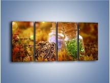 Obraz na płótnie – Kolorowy świat jak z bajki – czteroczęściowy O189W1