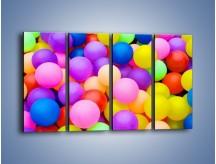 Obraz na płótnie – Basen z kolorowymi piłeczkami – czteroczęściowy O208W1