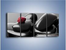Obraz na płótnie – Czerwień wśród czarności – czteroczęściowy O212W1