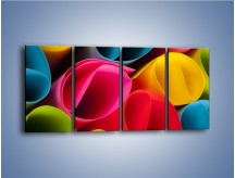 Obraz na płótnie – Kolorowe rulony – czteroczęściowy O217W1