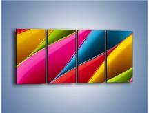Obraz na płótnie – Idealna kolorowa kompozycja – czteroczęściowy O219W1