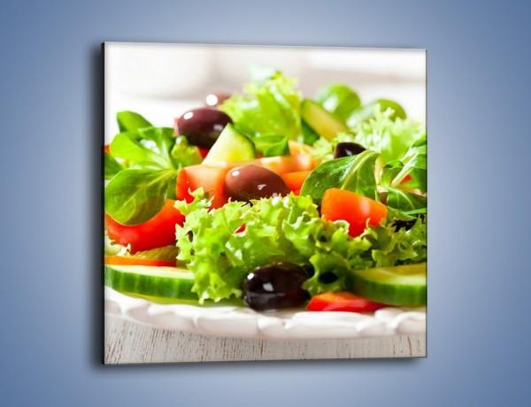Obraz na płótnie – Sałatkowy mix warzywny – jednoczęściowy kwadratowy JN204