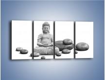 Obraz na płótnie – Budda wśród kamieni – czteroczęściowy O229W1
