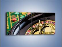 Obraz na płótnie – Czas drogocenny w kasynie – czteroczęściowy O238W1