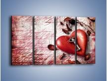 Obraz na płótnie – Klucz do serca – czteroczęściowy O246W1