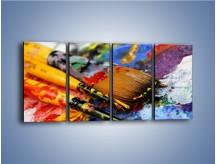 Obraz na płótnie – Kolory ze sobą zmieszane – czteroczęściowy O251W1