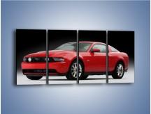 Obraz na płótnie – Czerwony Ford Mustang GT – czteroczęściowy TM052W1