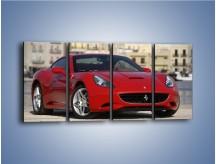 Obraz na płótnie – Czerwone Ferrari California – czteroczęściowy TM057W1