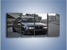 Obraz na płótnie – Czarne BMW E39 M5 – czteroczęściowy TM072W1